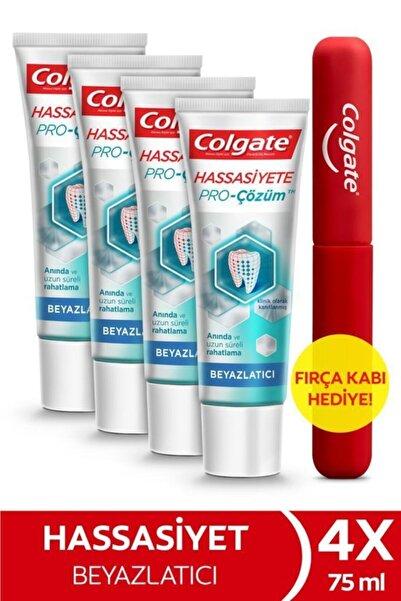 Colgate Hassasiyete Pro Çözüm Beyazlatıcı Pro Relief Diş Macunu 75 ml x 4 Adet  + Fırça Kabı Hediye