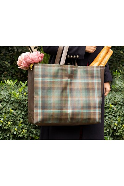Madame Coco Unisex Mavi Yeşil Lyon Alışveriş Çantası -