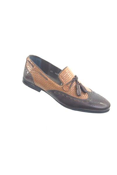 TETRİ Erkek Kahverengi Hakiki Deri Çok Rahat Mevsimlik Ayakkabı