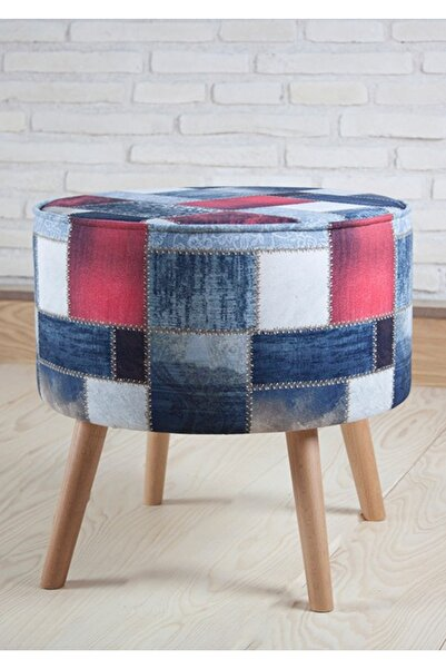 Monte Sehpa Patchwork Mk Puf
