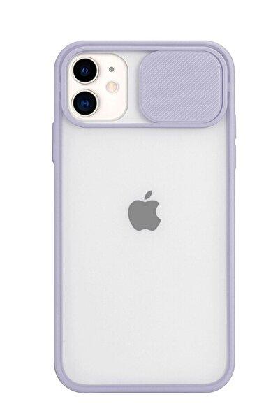 Sunix Iphone 11 Kamera Slayt Korumalı Lila Şeffaf Telefon Kılıfı