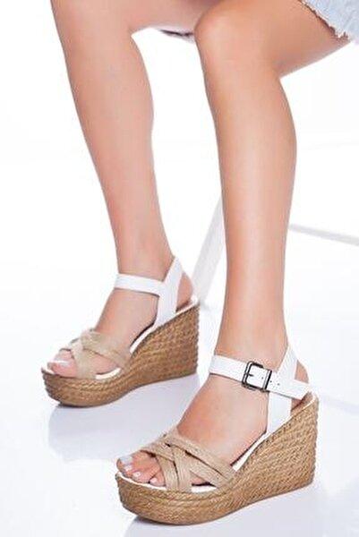 Kadın Beyaz Dolgu Topuklu Ayakkabı
