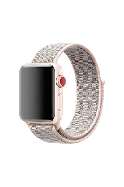 zore Apple Watch 44mm Krd-03 Hasır Kordon-pinksand