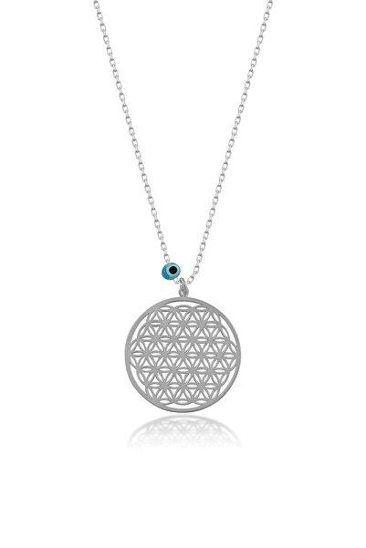Papatya Silver Yaşam Çiçeği Gümüş Kolye