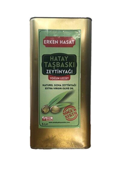 antakya köyünden Taş Baskı Erken Hasat Sızma Zeytinyağı-5lt
