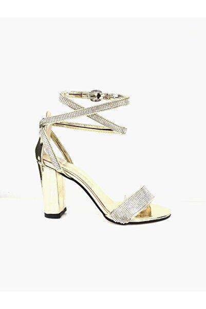 PUNTO 462051 Kadın Yüksek Topuk Taşlı Abiye Ayakkabı