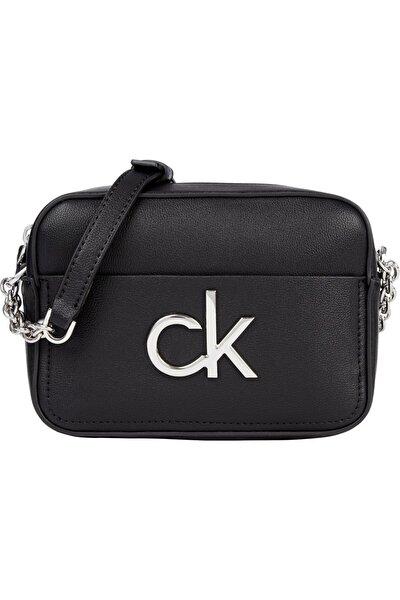 Calvin Klein Kadın Siyah Re-lock Camera Bag Omuz Çantası