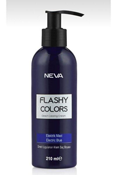 Neva Flashy Colors Elektrik Mavi Direkt Uygulanan Krem Saç Boyası 210ml
