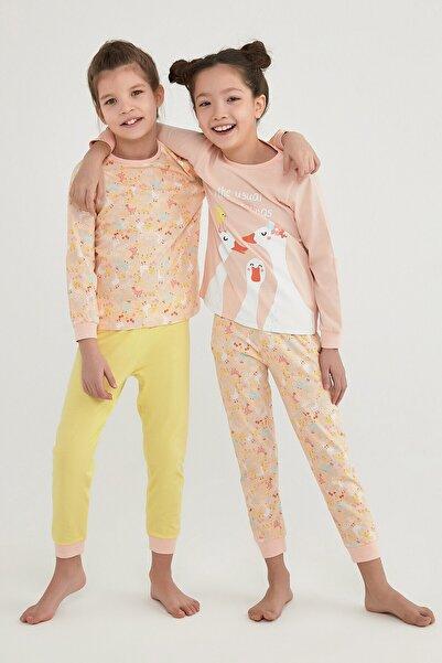 Penti Kız Çocuk Çok Renkli Farm Meetıngs Ls 4Lü Pijama Takımı