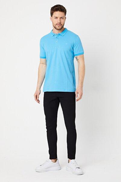 BREEZY Polo Yakalı T-shirt Mavi Renk 00977