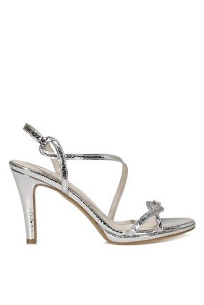 NICE.Z 1FX Gümüş Kadın Topuklu Sandalet 101038349