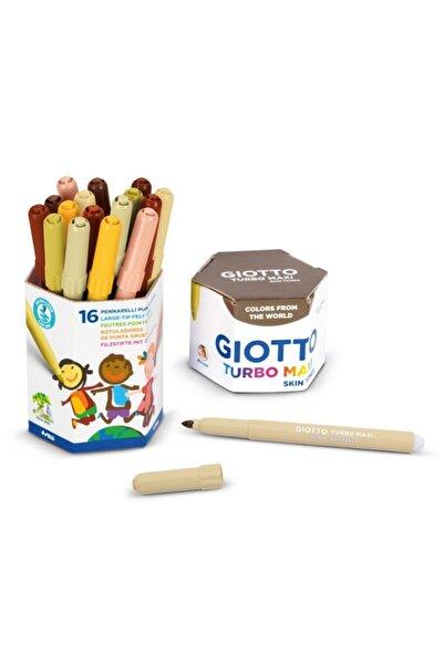 Giotto Turbo Maxi Skin Tones Keçeli Boya Kalemi Seti Ten Renkleri 16'lı Pot