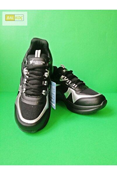 Twingo Kadın 601 Zenne Fashion Spor Sneaker Yürüyüş Ayakkabısı - Siyahgümüş