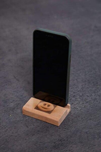 Ahşap Masaüstü Telefon Tablet Tutucu