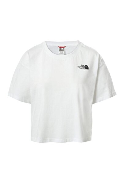 THE NORTH FACE Kadın Beyaz Cropped Sd Tişört