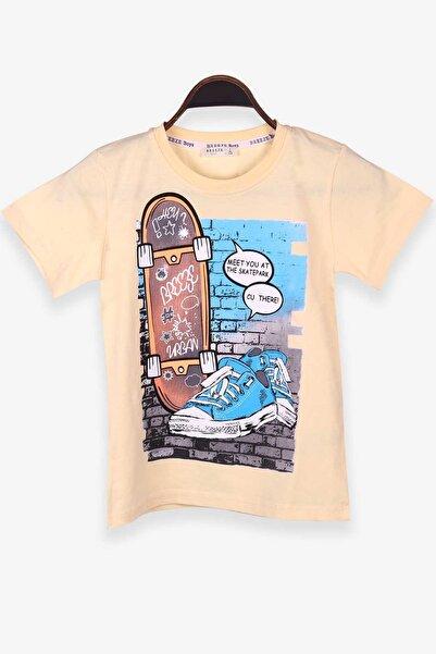 Breeze Erkek Çocuk Tişört Kaykay Ve Spor Ayakkabı Baskılı Sarı (8-12 YAŞ)