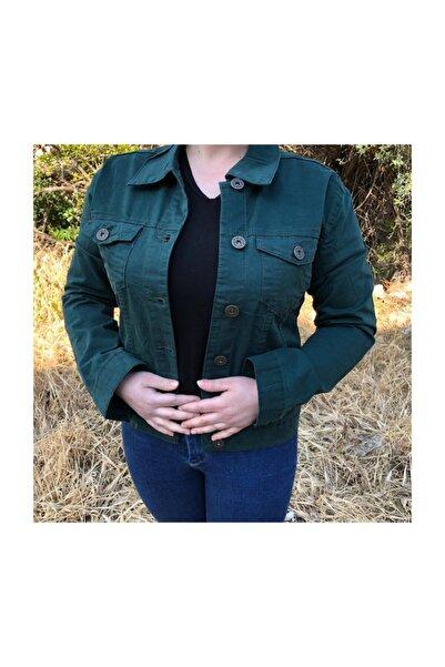 Citizen Kanvas Ceket Renk Yeşil,trucker Model, Slım Fıt,metal Düğmeli ,kapaklı Gizli Cep