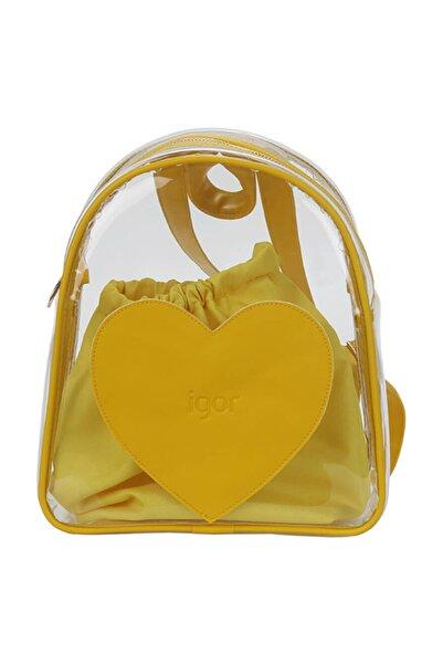 IGOR TRANSPARENT Sarı Kız Çocuk Sırt Çantası