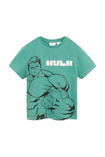 MANGO Kids Çift Taraflı Payetli Marvel Tişört