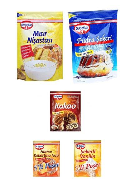 Dr. Oetker Kurabiye Malzeme Paketi-2 Mısır Nişastası  Pudra Şekeri Vanilya Kakao Kabartma Tozu