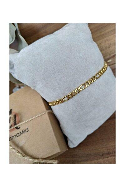 Figaro Zincir Çelik Gold Bileklik