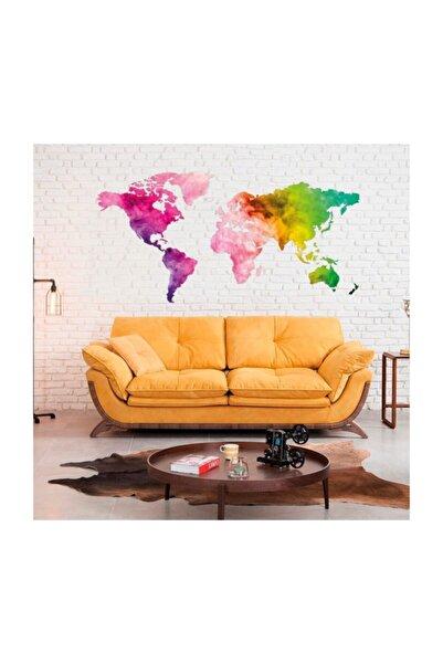 Artikel Dünya Haritası 2 Duvar Sticker, Duvar Çıkartması, Çocuk Odası Sticker Dp-1673