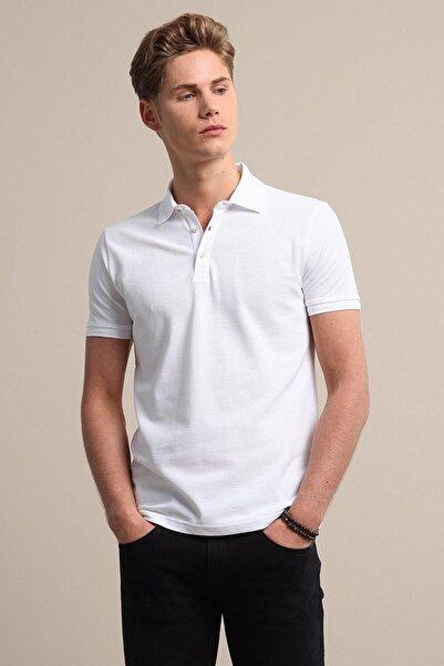 Kip Erkek Beyaz Düz Örme T - Shirt KP10120555