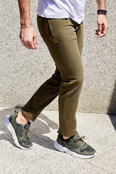 Sateen Men Erkek Haki 5 Cep Düğmeli Pantolon  103-1003-12 103-1003-12