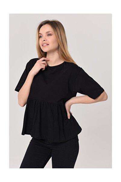 YOYOSO Kadın Altı Fırfırlı Tshirt 3152