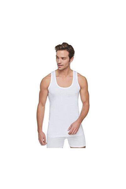 Tutku Erkek 12'li Paket Penye Atlet %100 Pamuklu (beyaz)
