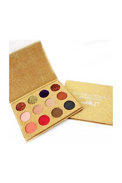Mcellyn Glitter&metallic Eyeshadow Yellow 2'li Set