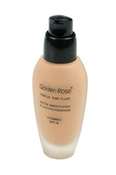 Golden Rose Likit Fondöten - Satin Smoothing Fluid Foundation Spf 15 No: 24 34 ml 8691190114244