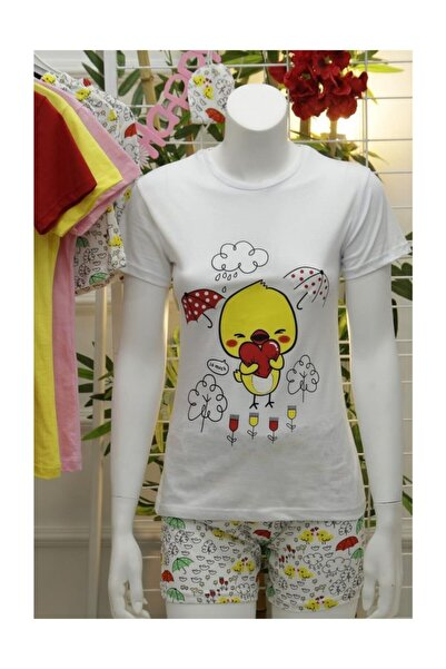Lukas Şortlu Pijama Takımı Beyaz - 4052.1059.