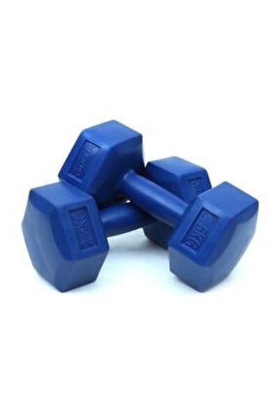2,5 Kg x 2 Adet Köşeli Mavi Plastik Dambıl Ağırlık Seti