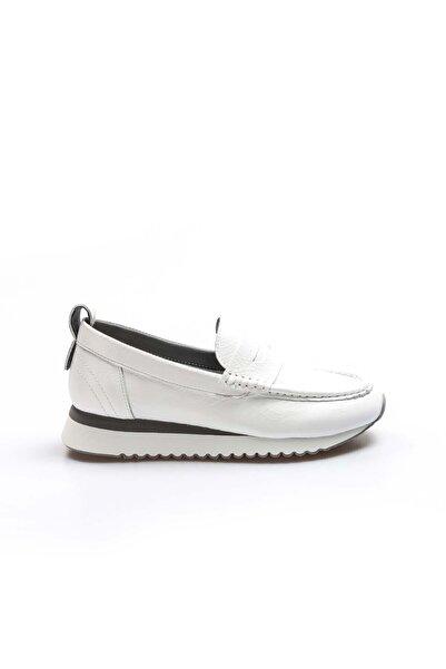 Alpıno Hakiki Deri Beyaz Kadın Casual Ayakkabı 009za665