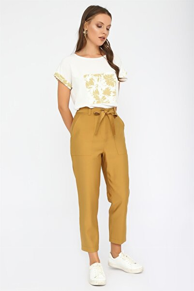 Chima Beli Lastikli Pantolon