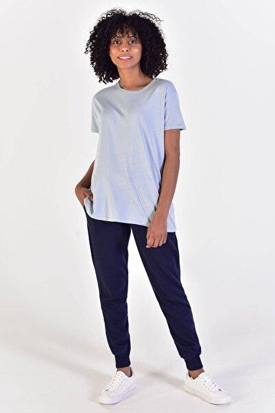 Addax Kadın Buz Mavi Basic Tişört P9384 Adx-0000021583