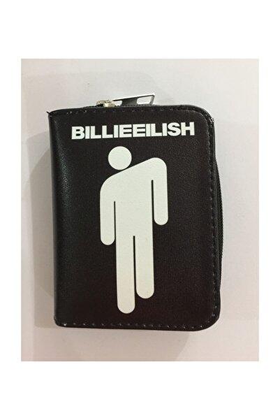 Köstebek Billie Eilish - Siyah Üzeri Beyaz Logo Kısa Cüzdan