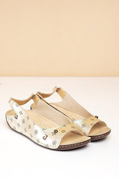 Pierre Cardin Kadın Altın Renk Sandalet Pc-1360 - 3009 - Pıerre Cardın-46