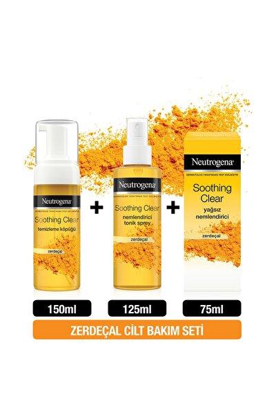 Neutrogena Soothing Clear Köpük 150 ml + Tonik 125 ml + Yağsız Nemlendirici 75 ml