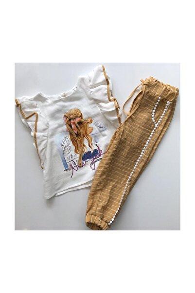 Midimod Gold Kız Çocuk Pantolonlu 2'li Takım 1-5 Yaş
