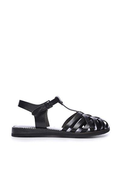 KEMAL TANCA Hakiki Deri Siyah Kadın Sandalet Sandalet 649 67 BN SND