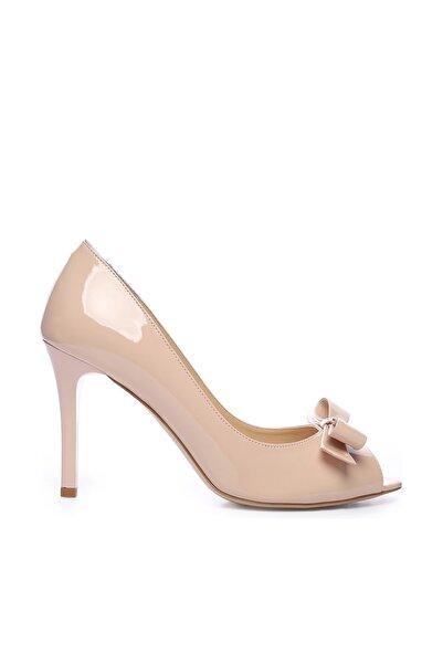 KEMAL TANCA Hakiki Deri Bej Kadın İnce Topuklu Ayakkabı 613 23446 BYN AYK