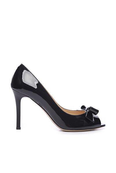 KEMAL TANCA Hakiki Deri Siyah Kadın İnce Topuklu Ayakkabı 613 23446 BYN AYK