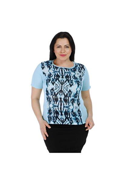 Solo Kadın Dalgalı Desenli Bluz