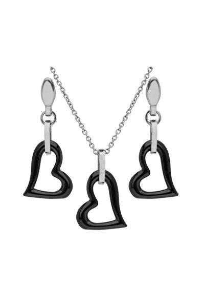 GETSS Kalp Model Kadın Çelik Seramik Set Set031
