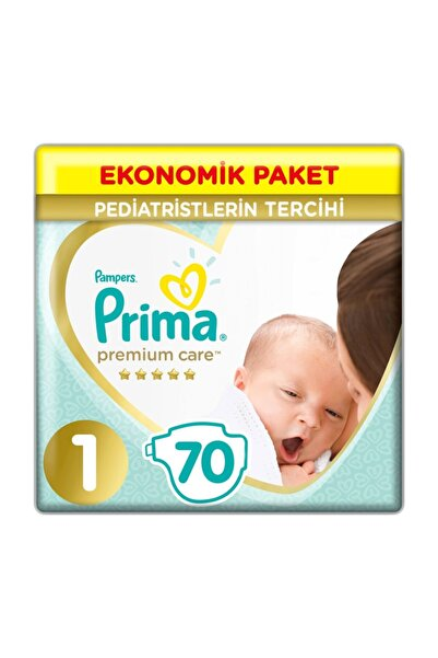 Bebek Bezi Premium Care 1 Beden 70 Adet Yenidoğan Jumbo Paket