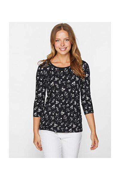 Faik Sönmez Kadın Çiçek Baskılı T-shirt 60656
