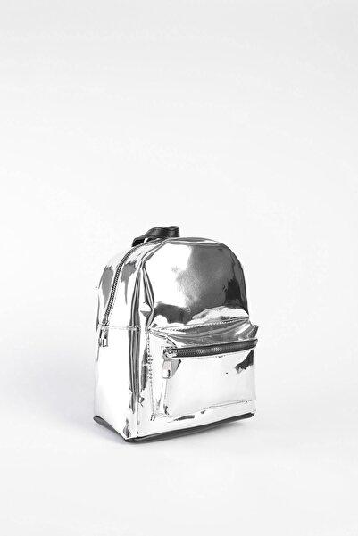 Arma Life Parlak Sırt Çantası - Gümüş