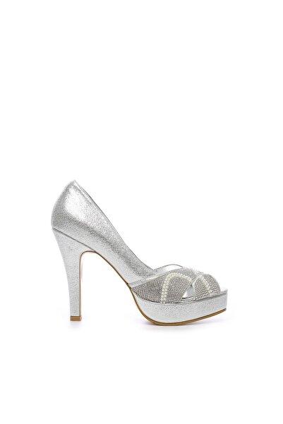 KEMAL TANCA Gri Kadın Vegan Klasik Topuklu Ayakkabı 592 2310 BN AYK